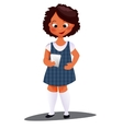 Portrait Of Young Happy Girl Writes a text message vector image