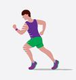 Speedy Male Runner vector image