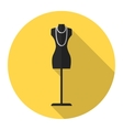 Fashion mannequin flat icon vector image vector image