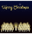 Merry Christmas starry sky over the burning vector image