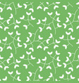 dense tiny leaves seamless pattern vector image
