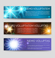 abstract colorful banners with multicolor flashes vector image