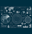 set of futuristic user interface hud vector image