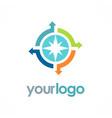 circle arrow compass logo vector image