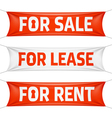 Fore Sale For Lease and For Rent banners vector image
