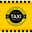 Taxi symbol with checkered background - 02 vector image vector image