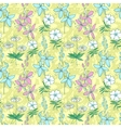 Yellow wild flowers seamless pattern vector image vector image