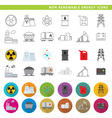 non renewable energy icons vector image