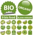 bio stickers vector image vector image