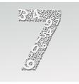 Number seven vector image
