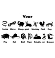 symbol of year animals vector image