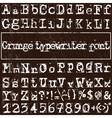 old typewriter font vector image