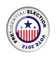 presidential 2012 election vector image vector image
