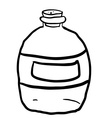 black and white empty bottle vector image vector image