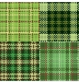 Set of green seamless swatches vector image