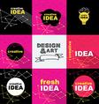 Creative idea design concept logo banner template vector image