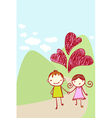 cute couple card vector image
