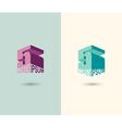 Figure 5 logo 3D figure five Icon Concept design vector image