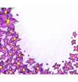 Lilac background vector image