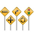 Traffic sign pole set vector image