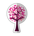 tree plant with butterflies icon vector image