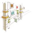 Home Hallway vector image vector image