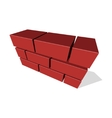Brick Wall Icon 3D on White Background vector image vector image