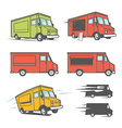 Set of food trucks from various angles vector image
