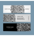 Banners set floral design vector image vector image
