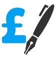 Pencil Pound Price Flat Icon Symbol vector image