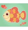 Application fish vector image