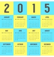 calendar of 2015 year in the colors of Ukrainian vector image