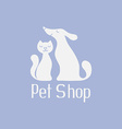 Cat and dog logo for pet shop vector image