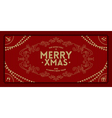 Merry Christmas greeting vintage frame vector image