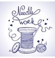 needlework vector image
