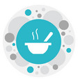of restaurant symbol on soup vector image