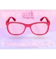 Pink eyeglasses for positive lifestyle vector image