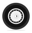 retro wheel isolated vector image