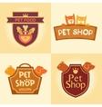 Set of logos for pet shop hotel vector image