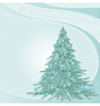 Von with fir-tree vector image