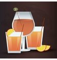 cocktail orange glass summer alcohol icon vector image