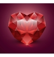 Heart shaped gem stone vector image vector image