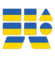 buttons with flag of Ukraine vector image