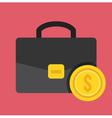 Breifcase and Gold Coin Icon vector image