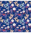Blue wild flowers seamless pattern vector image