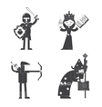 Fantasy characters flat icon vector image