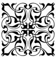 Damask block print vector image vector image