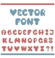 embroidered letters vector image