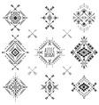 Tribal geometric symbols vector image
