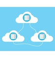 cloud computing database vector image